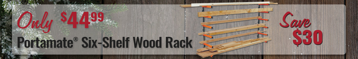 Save $30 On Portamate wood rack