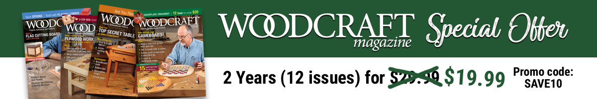 Two years of Woodcraft Magazine 19.99