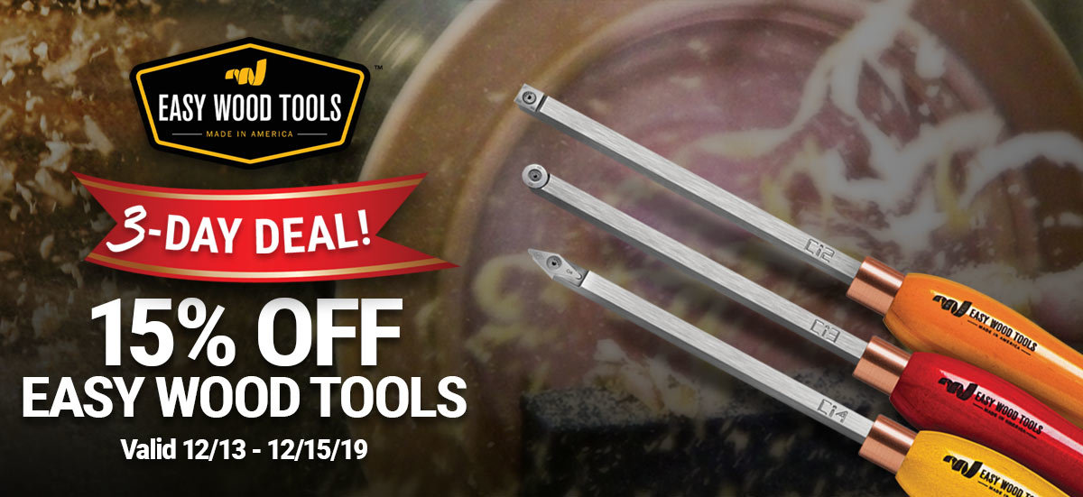 Take 15% Off Easy Wood Tools Through Sunday