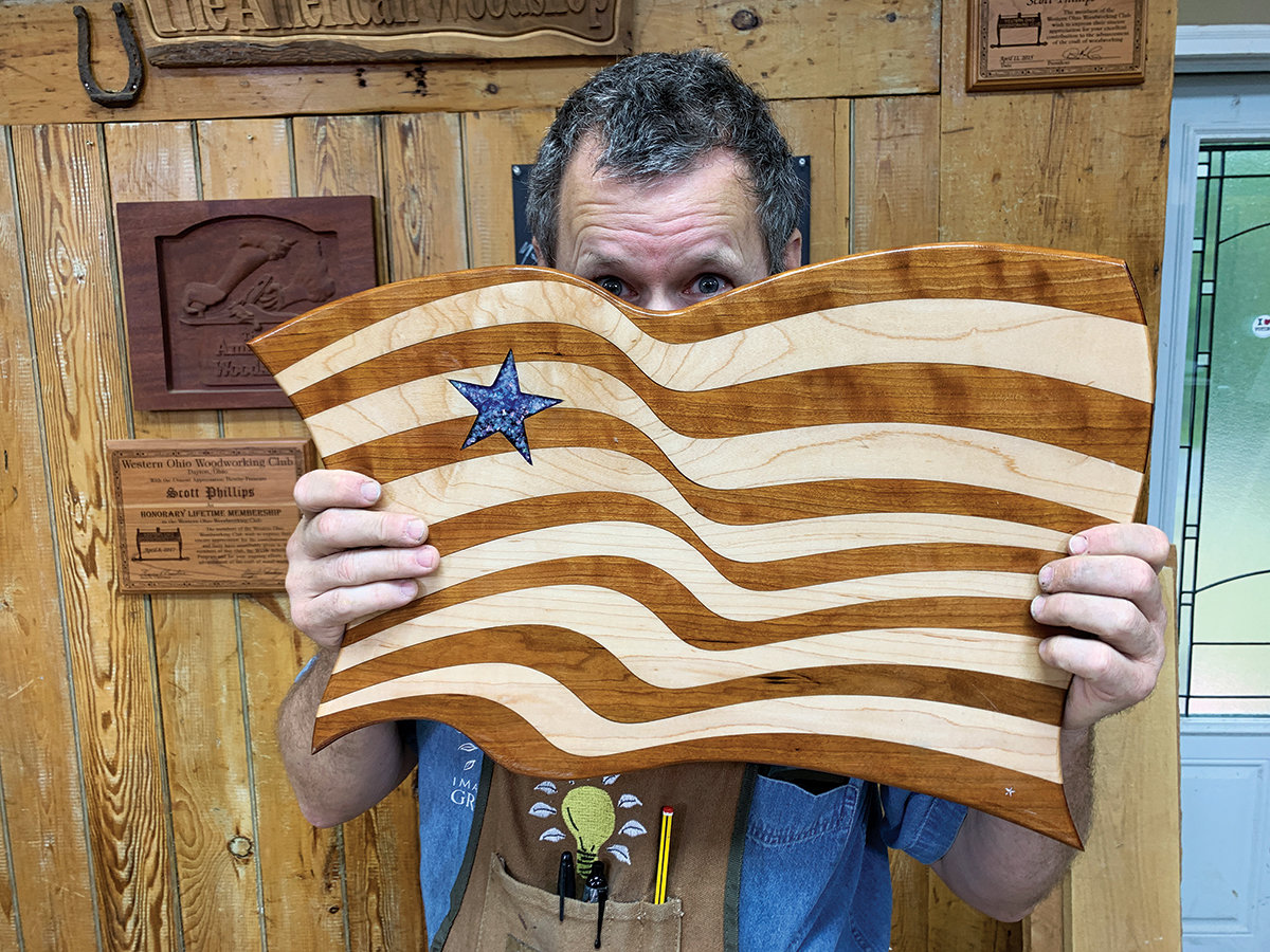 Scott Grove demonstrates his American Flag Inlay process on Episode 2712.
