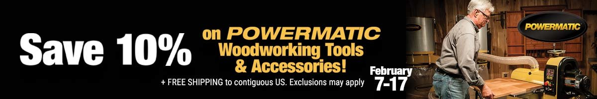 Save 10% on Powermatic tools and accessories