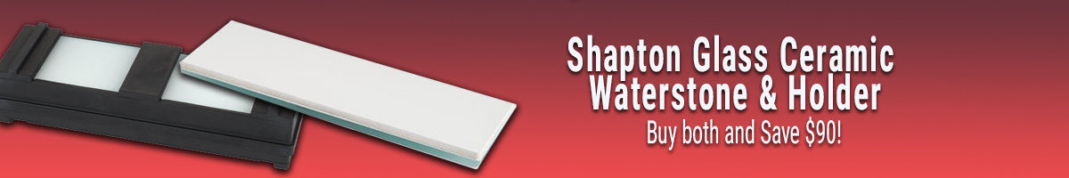 Buy Shapton waterstone and holder save $90!