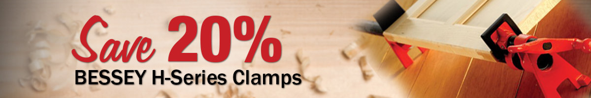 Save 20% on Bessey H-Series Clamps