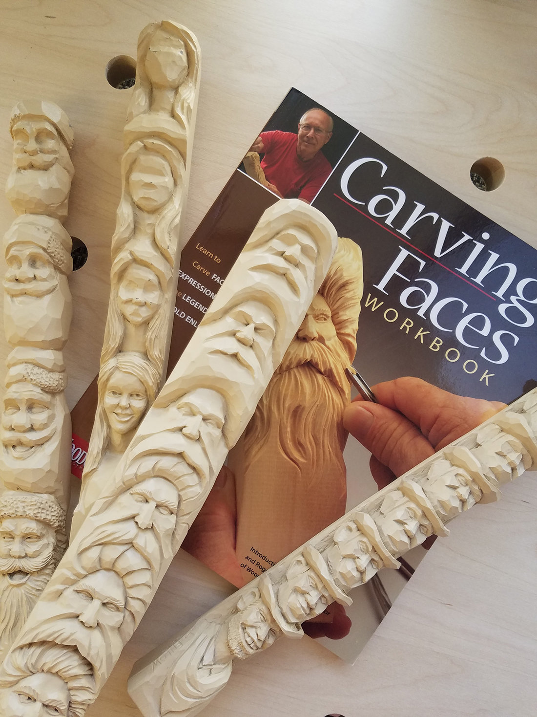 Carving Faces Workbook and study sticks