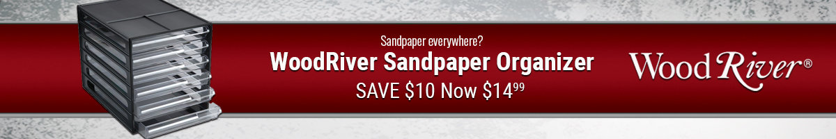 Save $10 on WoodRiver sandpaper organizer