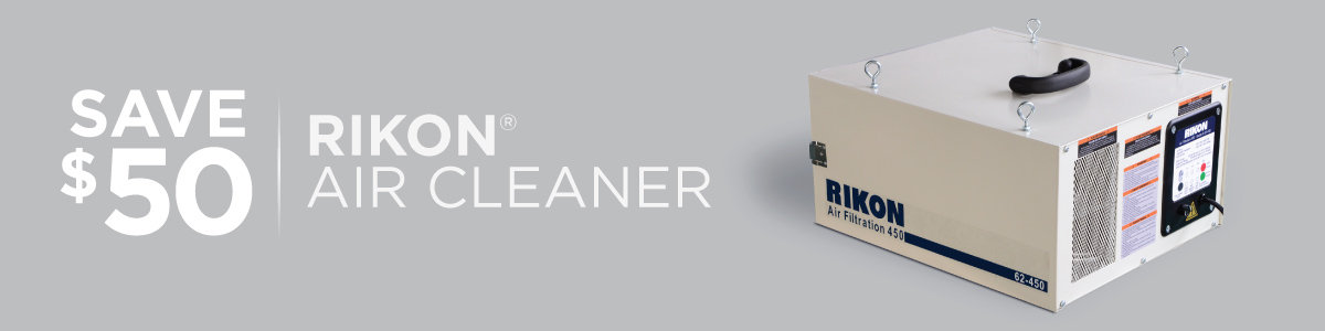 Save $50 on Rikon Air Cleaner Now Through May 31, 2021