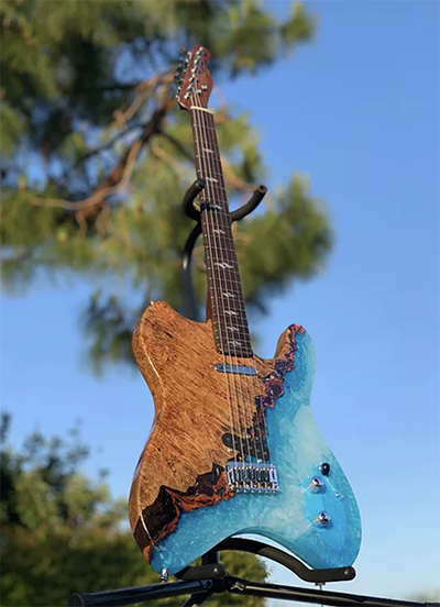 Guitar Made Out Of Resin