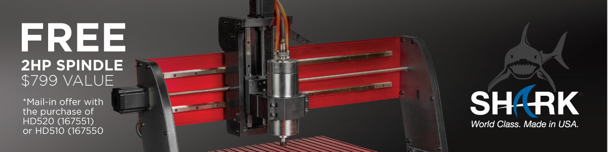 Free 2HP Spindle Mail-In Offer with Purchase