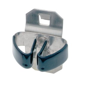 1/4 In. to 1/2 In. Hold Range 2-3/4 In. Proj. Vinyl Dipped Stainless Steel Standard Spring Clip for SS LocBoard, 3 Pack
