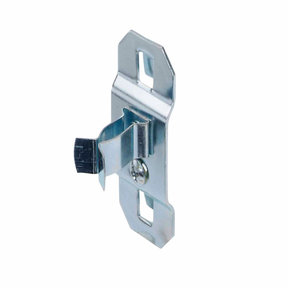 1/4 In. to 1/2 In. Hold Range 7/8 In. Projection, Zinc Plated/Chromate Dipped Steel Extended Spring Clip for LocBoard, 5