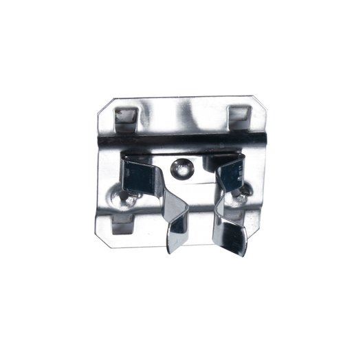 View a Larger Image of 1 In. to 2 In. Hold Range 2 In. Projection, Stainless Steel Extended Spring Clip for Stainless Steel LocBoard, 3 Pack