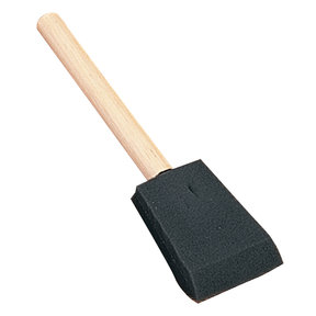 "1"" Wooden Handle Foam Brushes, 10-Pack"