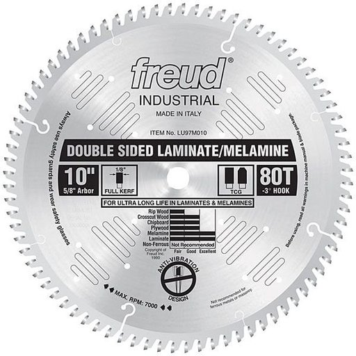 "View a Larger Image of 10"" Double Sided Laminate/Melamine Blade"