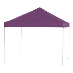 10 ft. x 10ft. Pro Pop-up Canopy Straight Leg, Purple Cover