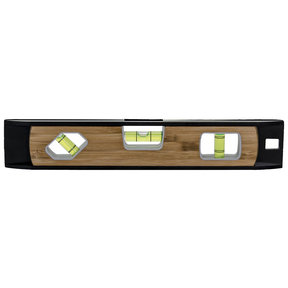"10"" Magnetic Torpedo Level Aluminum and Bamboo"