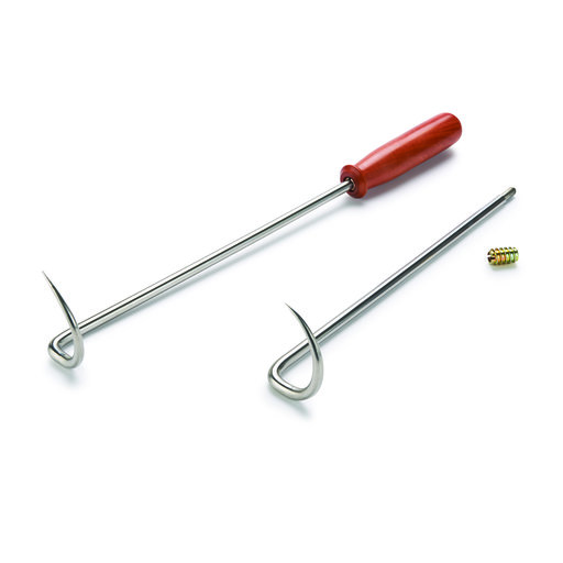 "View a Larger Image of 10"" Stainless Steel BBQ Pig Tail Flipper Turning Kit 2-Piece"
