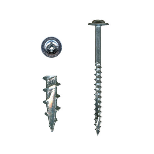 View a Larger Image of 10 x 2-1/2 HighPoint Cabinet Installation Screws, Washer Head, Combo Drive, Zinc, 100-Piece