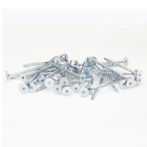 10 x 2-1/2 Powerhead Wood Screws, 50-Piece