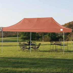10ft. x 20ft. Pro Pop-up Canopy Straight Leg, Blue Cover
