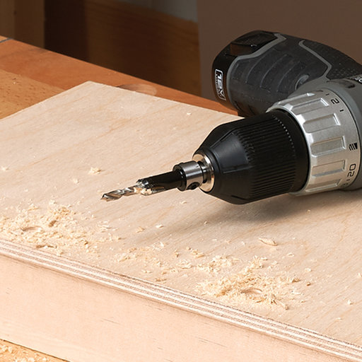 """View a Larger Image of 11/64"""" x 3/8"""" Carbide-Tipped Countersink Set With Brad Point Pilot"""