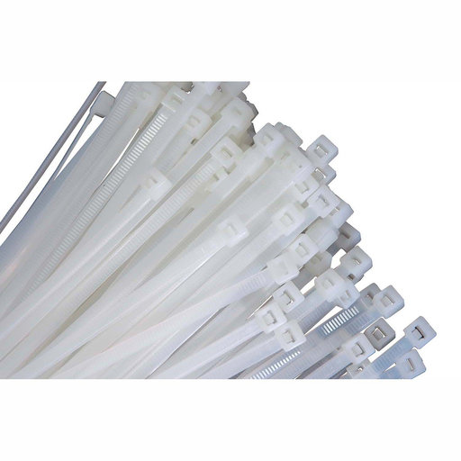 "View a Larger Image of 11"" Long Heavy Duty Natural Nylon Ties, with 50 lb Tensile Strength, 100/pk"