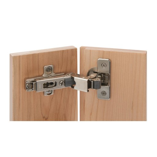 """View a Larger Image of 110° Soft Close 3/8"""" Lipped Hinge Nickel Finish Pair"""