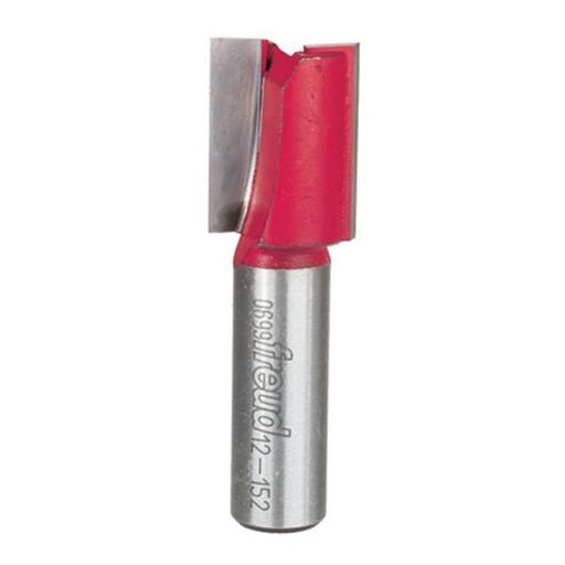 """View a Larger Image of 12-152 Double Flute Straight Router Bit 1/2"""" SH 3/4""""D 1""""CL"""