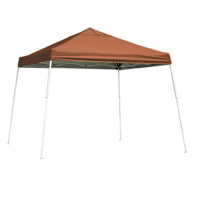 12 ft. x 12 ft. Sport Pop-up Canopy Slant Leg, Terracotta Cover