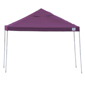 12 ft. x 12ft. Pro Pop-up Canopy Straight Leg, Purple Cover