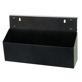 12 In. L x 3.5 In. W x 5 In. H Black Powder Coated Steel Magnetic Tool Box