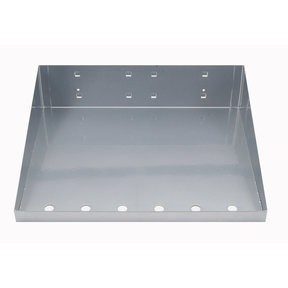 12 In. W x 10 In. D Silver Epoxy Powder Coated LocBoard Steel Shelf with 6 Holes