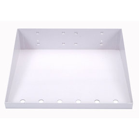 12 In. W x 10 In. D White Epoxy Powder Coated LocBoard Steel Shelf with 6 Holes