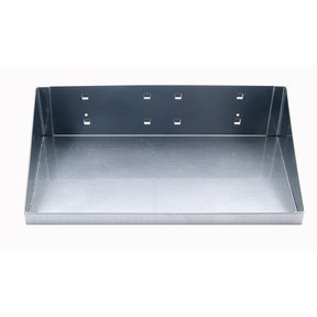 12 In. W x 6 In. D Silver Epoxy Powder Coated Steel Shelf for LocBoard