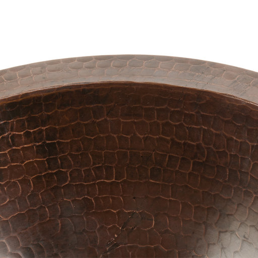 """View a Larger Image of 12"""" Small Round Under Counter Hammered Copper Sink"""