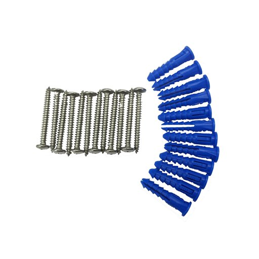 View a Larger Image of 12 Steel Screws & 12 Plastic Wall Anchors for Mounting Stainless Steel Pegboard System LB2-S, LB2-Skit, LB18-S & LB18S-K