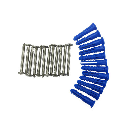 View a Larger Image of 12 Steel Screws & 12 Plastic Wall Anchors for Mounting Steel Pegboard System
