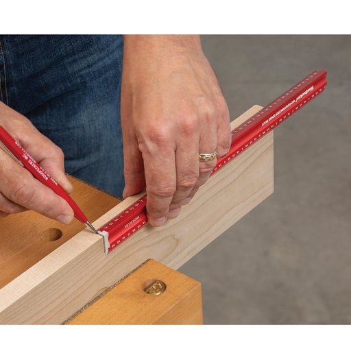 "View a Larger Image of 12"" Woodworkers Edge Rule"
