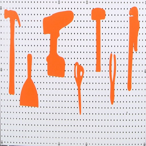 """View a Larger Image of 12"""" x  60""""  Shadow Board Orange Vinyl Self-Adhesive Tape Roll to Silhouette and Manage Tools and Equipment"""