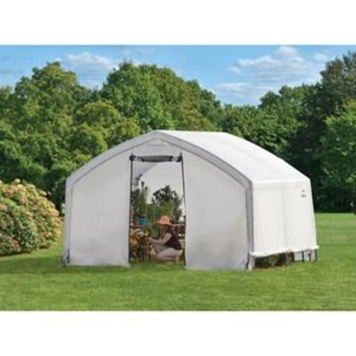 View a Larger Image of 12X10X9 Accelaframe Greenhouse, HD 5.5 oz Clear Fabric