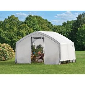 12X10X9 Accelaframe Greenhouse, HD 5.5 oz Clear Fabric