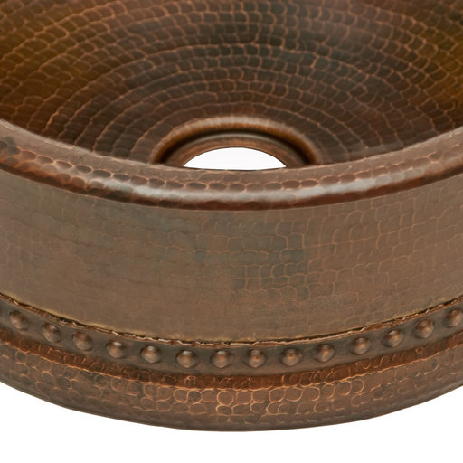 """View a Larger Image of 15"""" Round Bar Vessel Tub Sink w/ 2"""" Drain Size"""