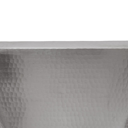 """View a Larger Image of 15"""" Square Hammered Copper Bar/Prep Sink in Nickel w/ 3.5"""" Drain Size"""