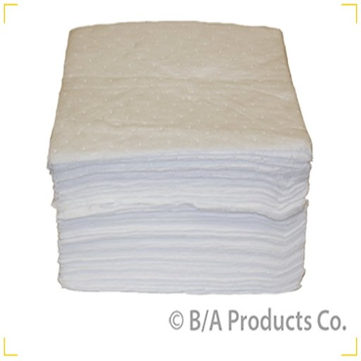 "View a Larger Image of 15""x18"" White Oil Absorbant Pads: Case of 100"