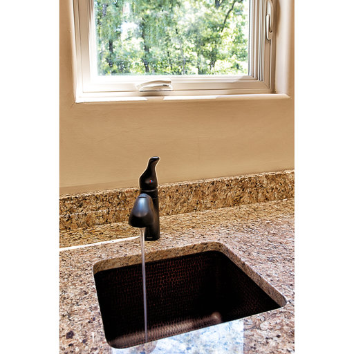 "View a Larger Image of 16"" Gourmet Rectangular Hammered Copper Bar/Prep Sink"