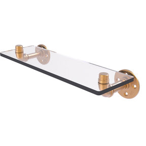 "16"" Glass Shelf, Brushed Bronze Finish"