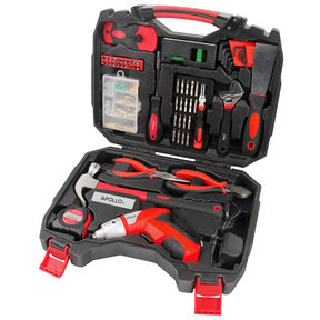 160 Piece Household Tool Kit with 4.8V Cordless Screwdriver