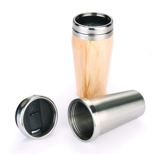 View a Larger Image of 16oz. Stainless Steel Travel Mug Turning Kit with Screw Top Lid