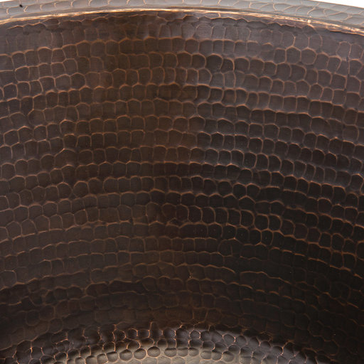 """View a Larger Image of 17"""" Large Round Hammered Copper Bar/Prep Sink"""