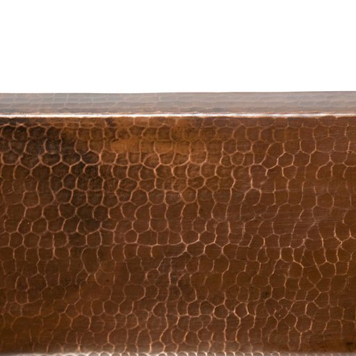 "View a Larger Image of 17"" Large Square Hammered Copper Bar/Prep Sink"