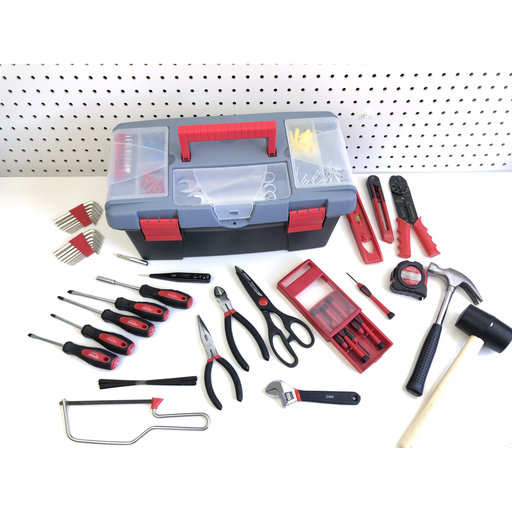 View a Larger Image of 170 pc Household Tool Kit w Tool Box